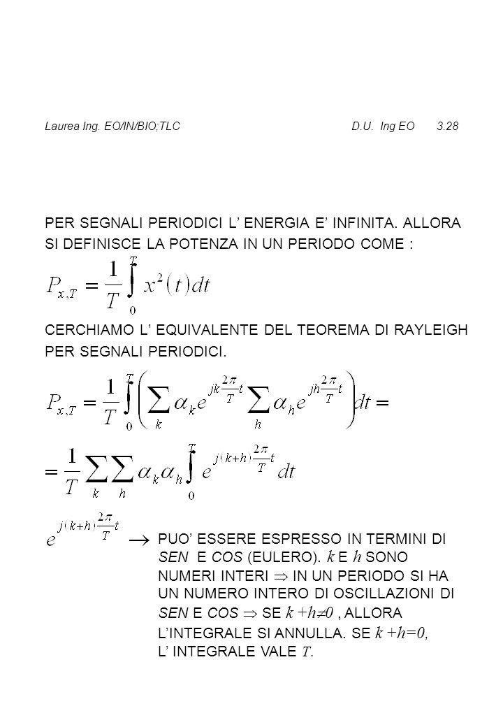 Laurea Ing. EO/IN/BIO;TLC D.U. Ing EO 3.28