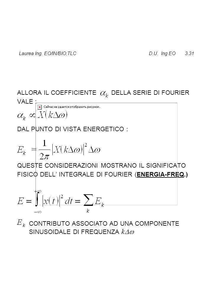 Laurea Ing. EO/IN/BIO;TLC D.U. Ing EO 3.31