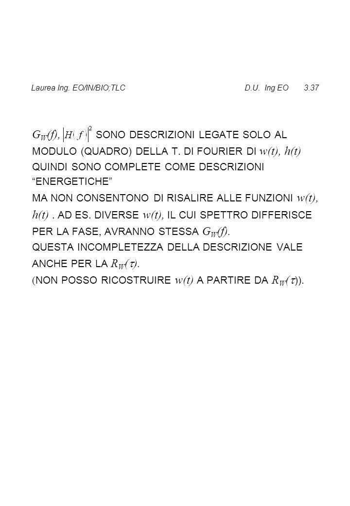 Laurea Ing. EO/IN/BIO;TLC D.U. Ing EO 3.37