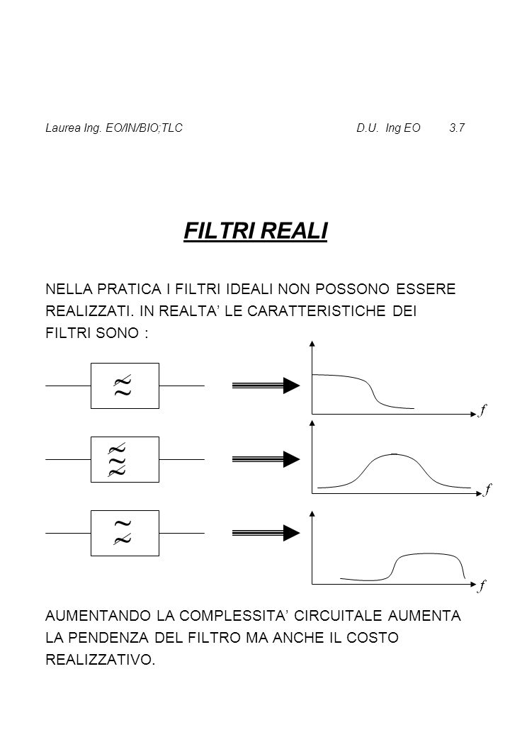 Laurea Ing. EO/IN/BIO;TLC D.U. Ing EO 3.7
