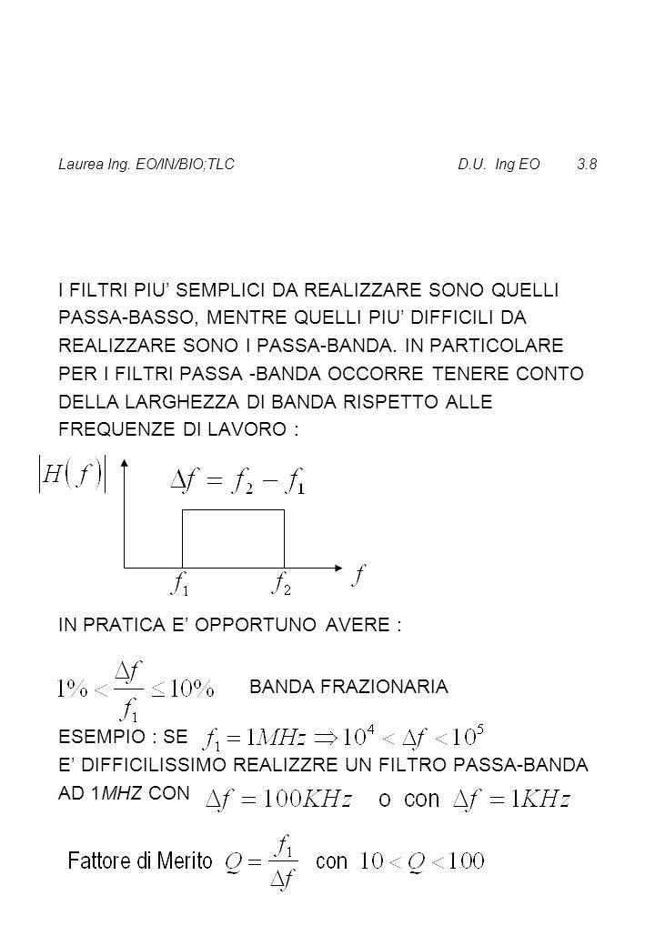Laurea Ing. EO/IN/BIO;TLC D.U. Ing EO 3.8