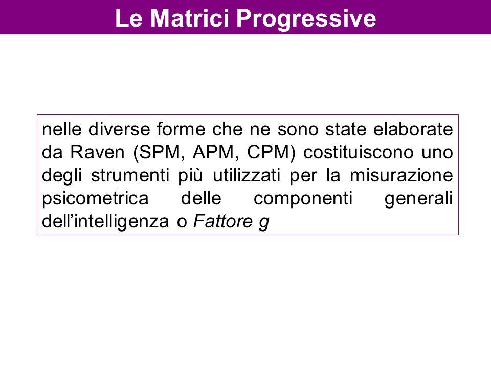 Le Matrici Progressive