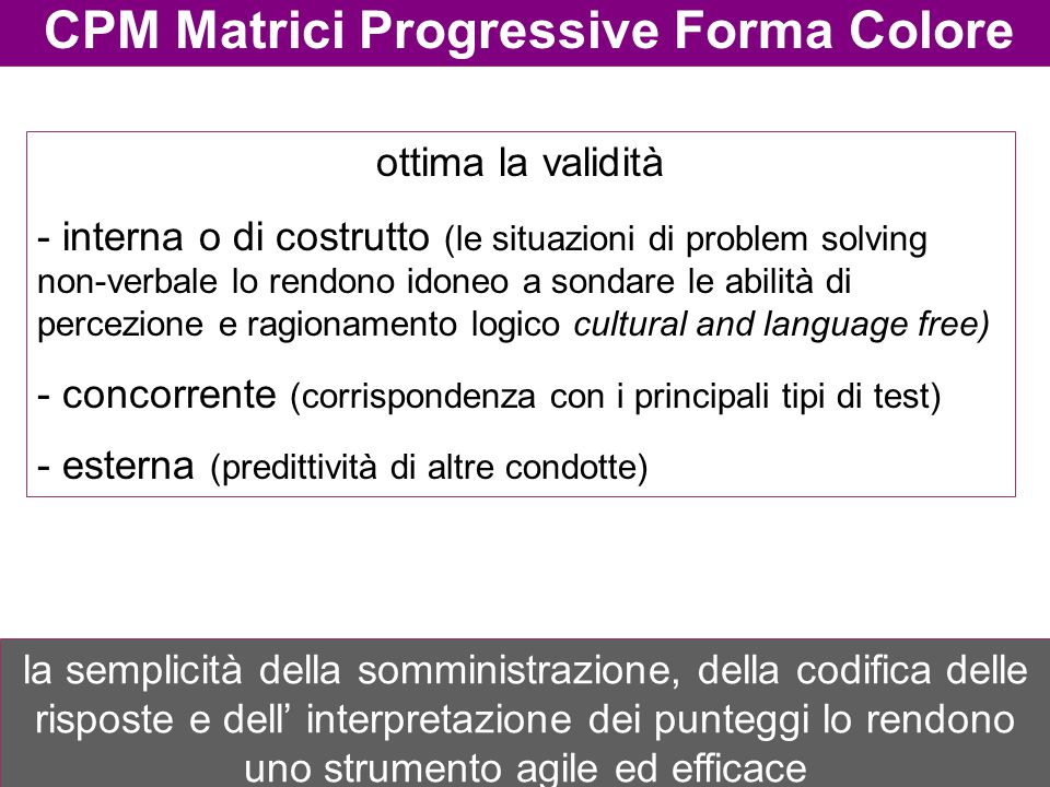 CPM Matrici Progressive Forma Colore