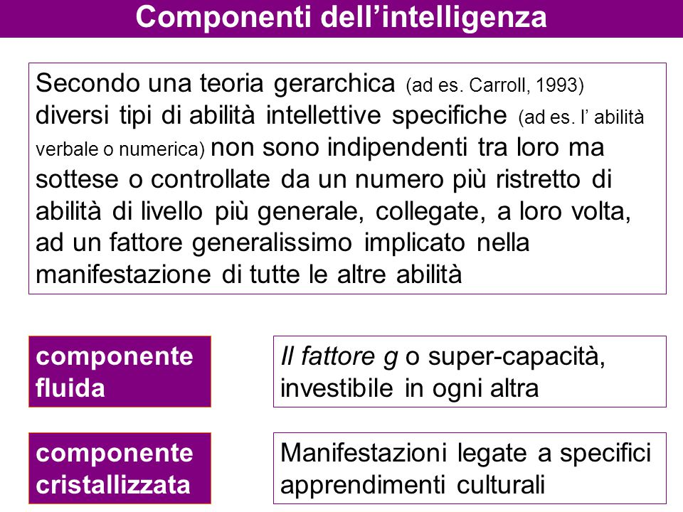 Componenti dell'intelligenza