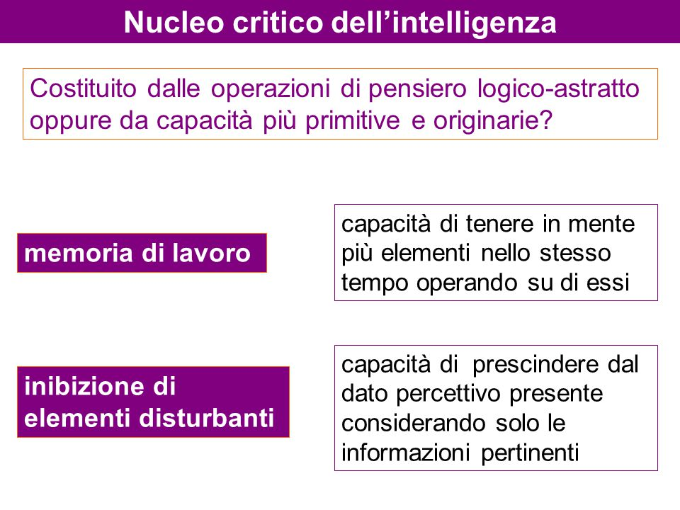 Nucleo critico dell'intelligenza