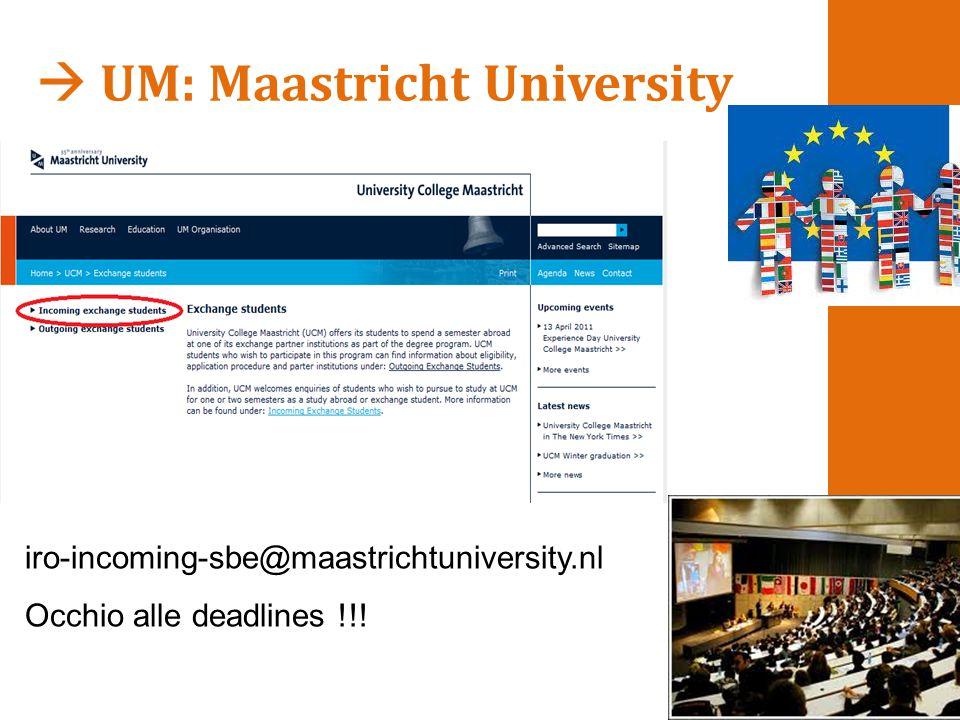  UM: Maastricht University