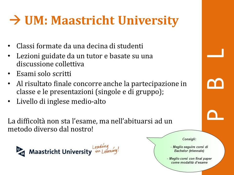 P B L  UM: Maastricht University