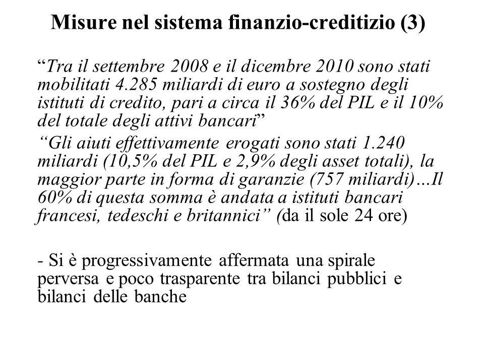 Misure nel sistema finanzio-creditizio (3)