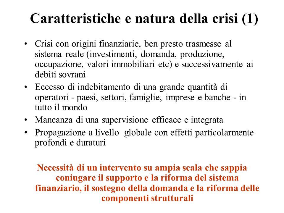 Caratteristiche e natura della crisi (1)