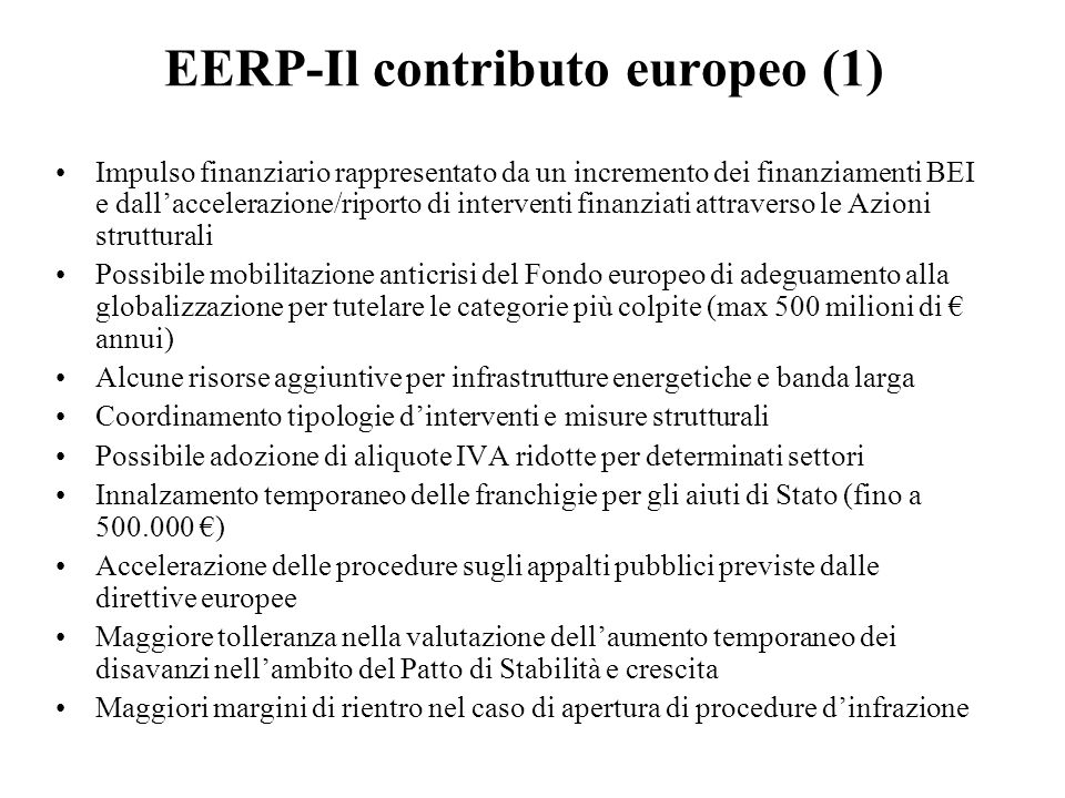EERP-Il contributo europeo (1)