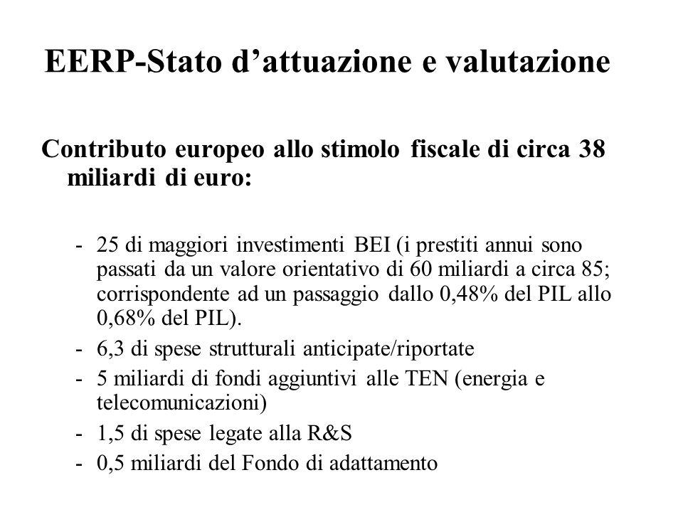 EERP-Stato d'attuazione e valutazione