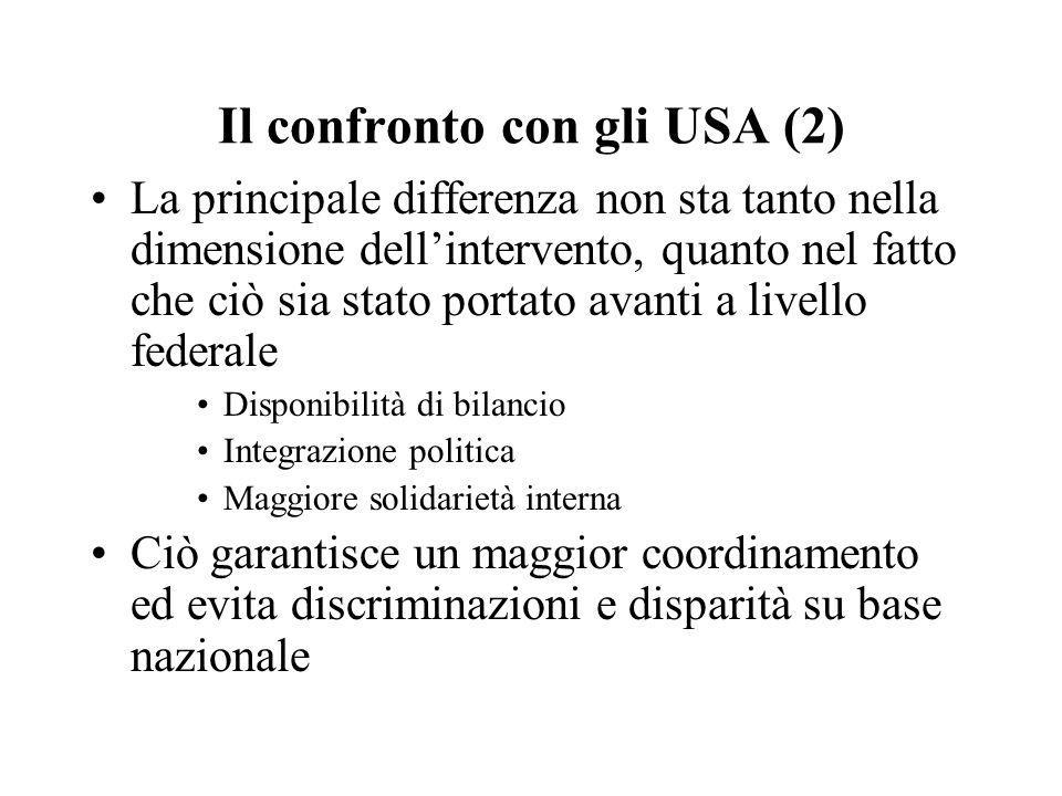 Il confronto con gli USA (2)