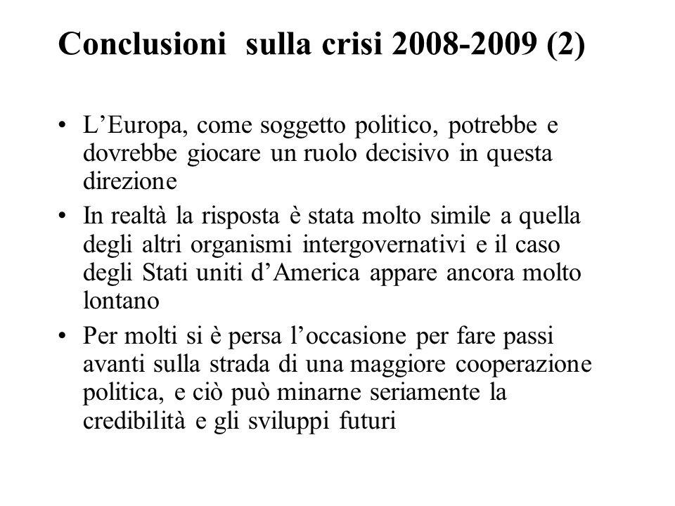 Conclusioni sulla crisi 2008-2009 (2)