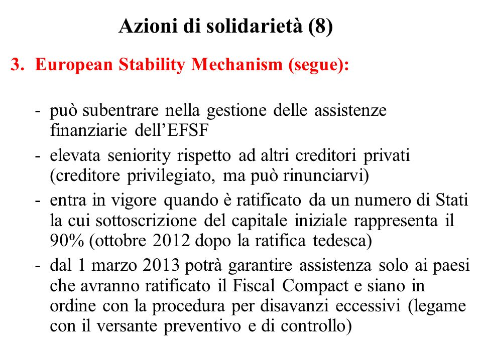Azioni di solidarietà (8)