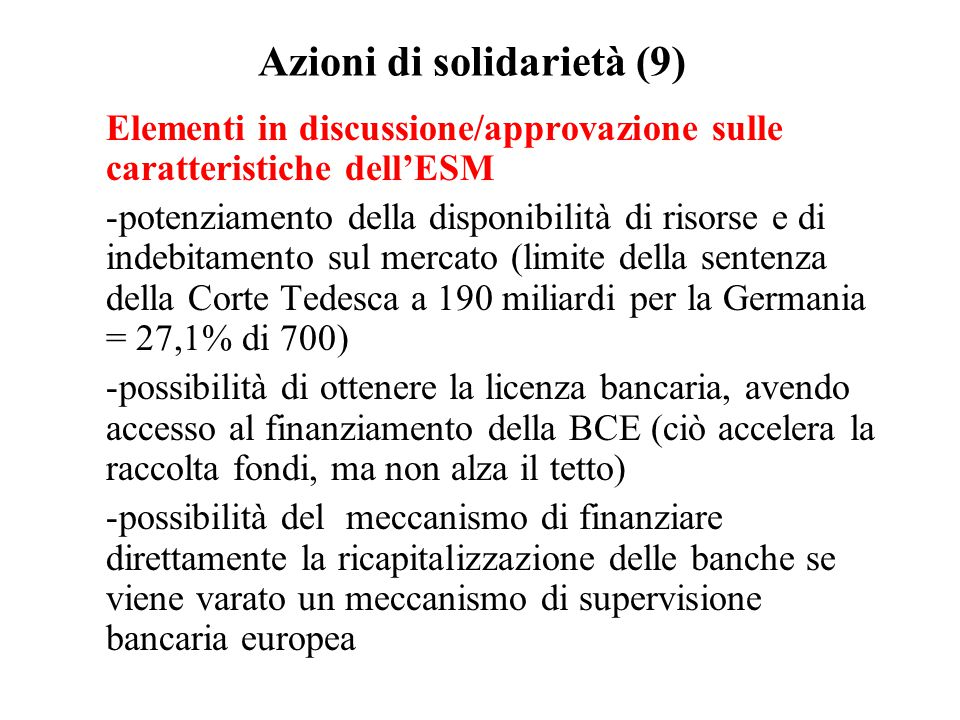 Azioni di solidarietà (9)