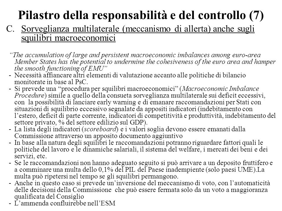 Pilastro della responsabilità e del controllo (7)