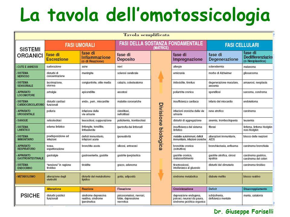 La tavola dell'omotossicologia