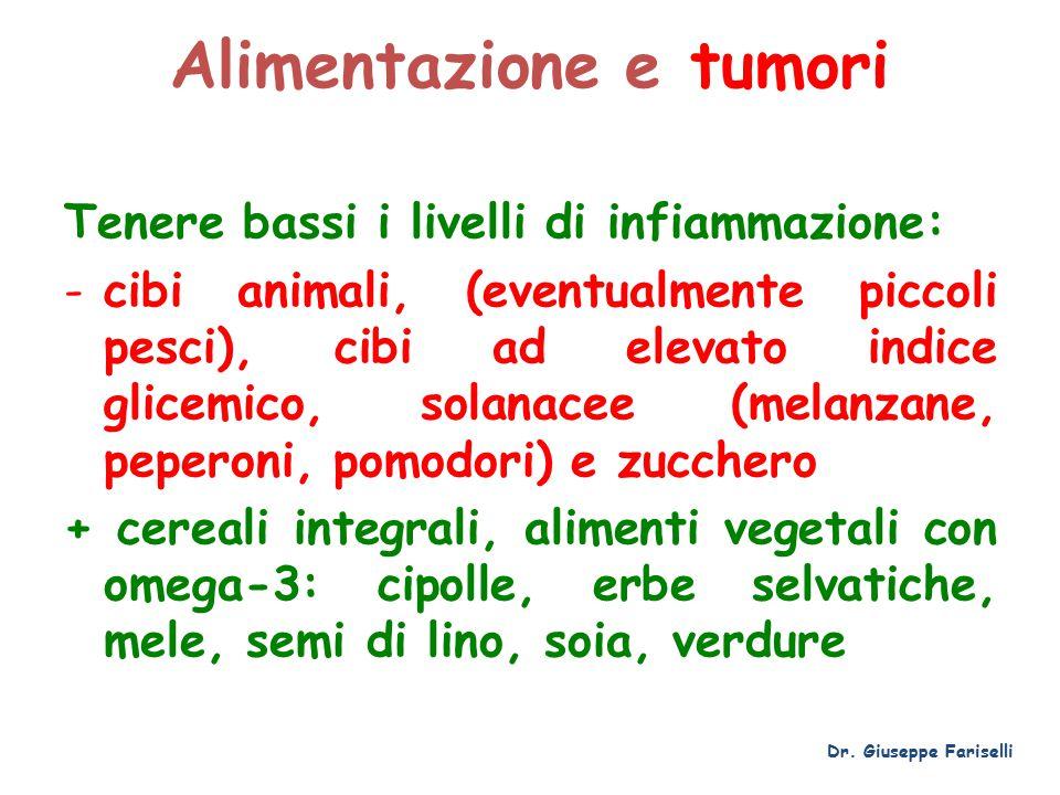 Alimentazione e tumori