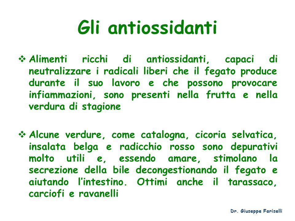Gli antiossidanti