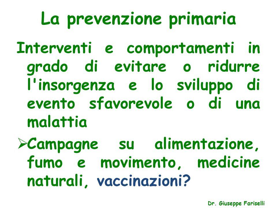 La prevenzione primaria