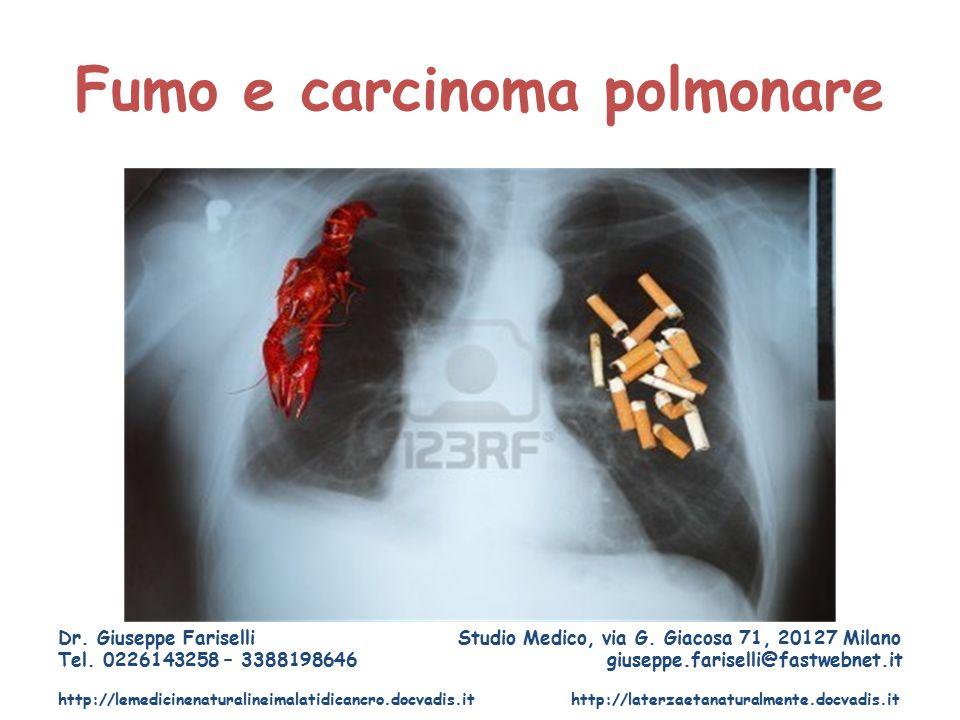 Fumo e carcinoma polmonare