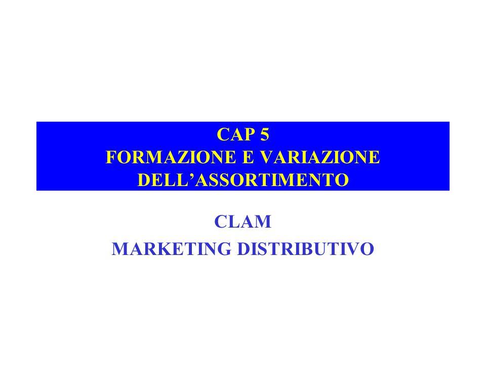 CAP 5 FORMAZIONE E VARIAZIONE DELL'ASSORTIMENTO