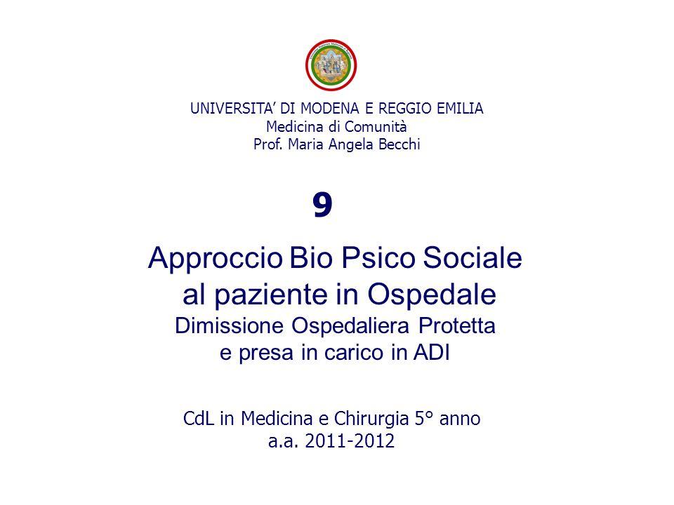 9 Approccio Bio Psico Sociale