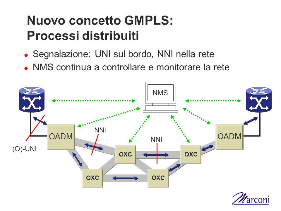 Nuovo concetto GMPLS: Processi distribuiti