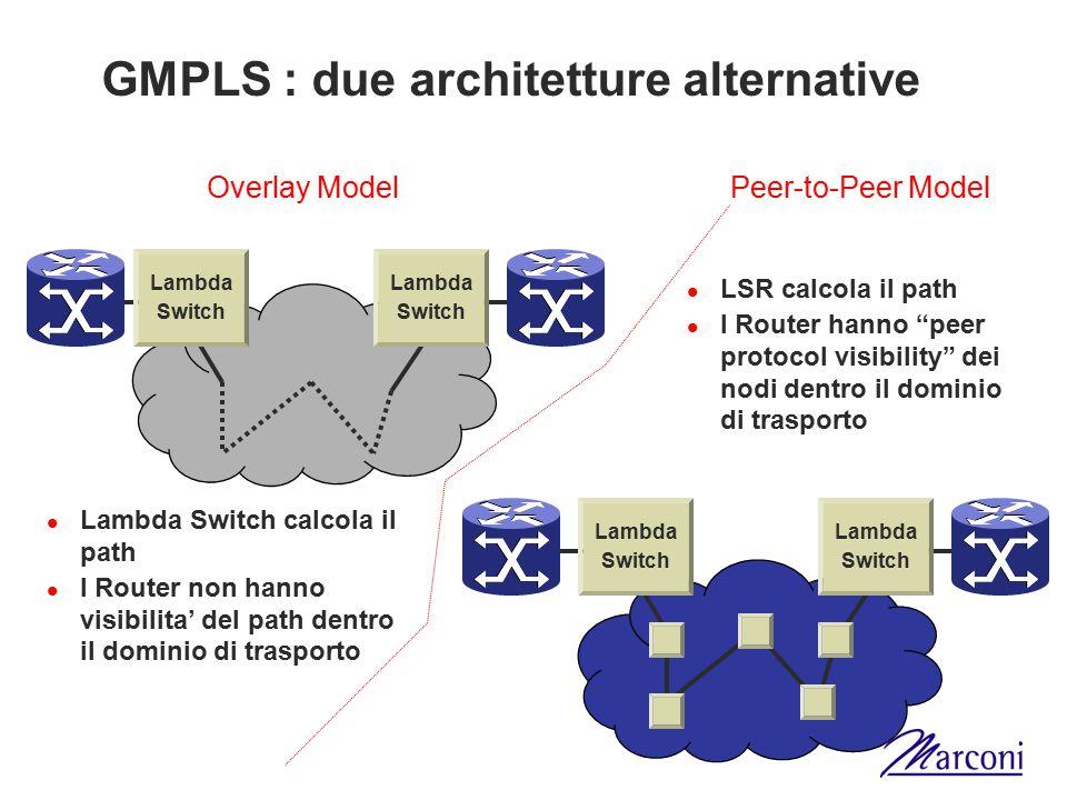 GMPLS : due architetture alternative