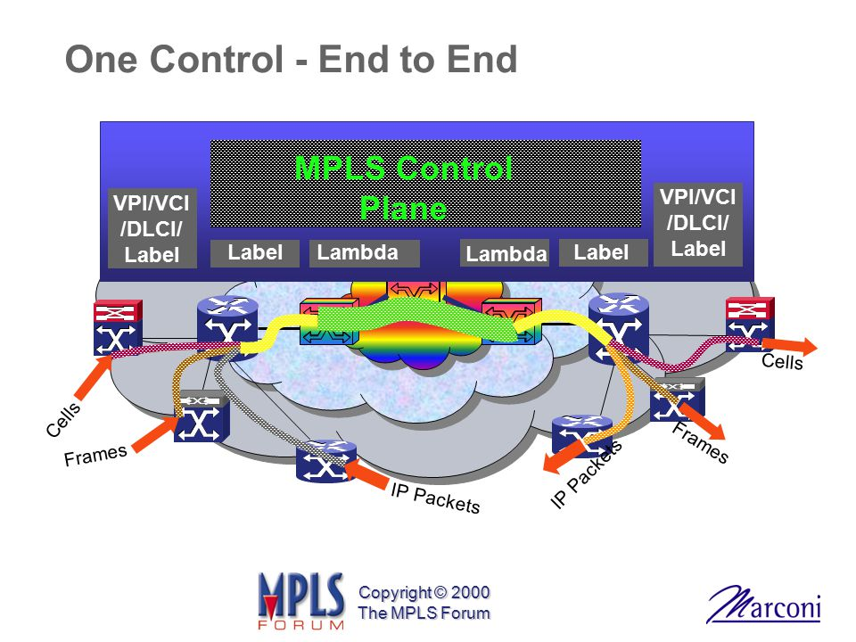 One Control - End to End MPLS Control Plane VPI/VCI/DLCI/ Label