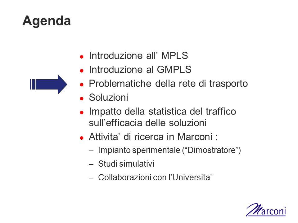 Agenda Introduzione all' MPLS Introduzione al GMPLS