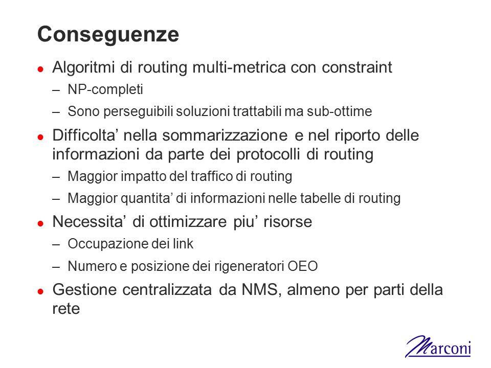 Conseguenze Algoritmi di routing multi-metrica con constraint