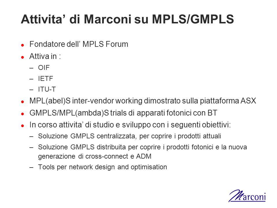 Attivita' di Marconi su MPLS/GMPLS