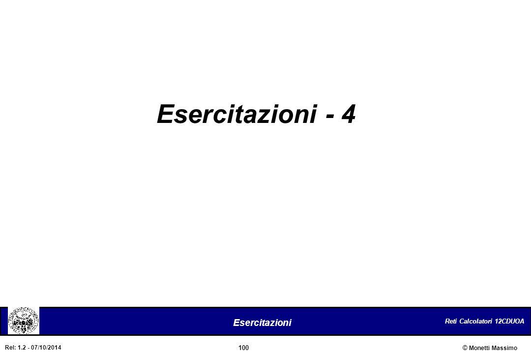 Esercitazioni - 4
