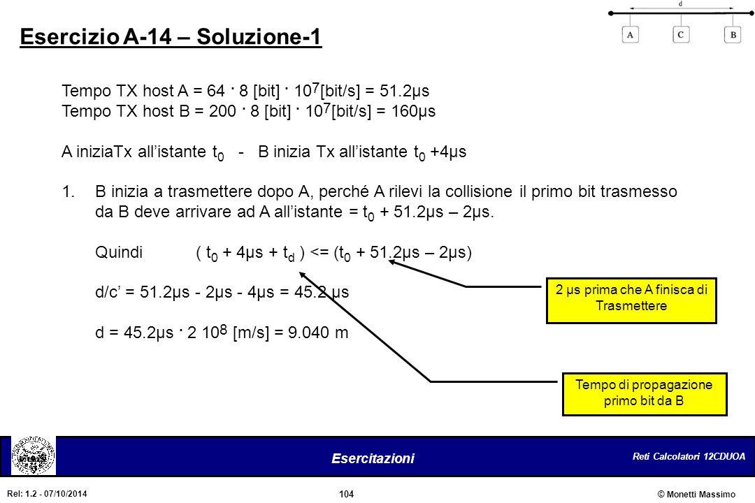 Esercizio A-14 – Soluzione-1