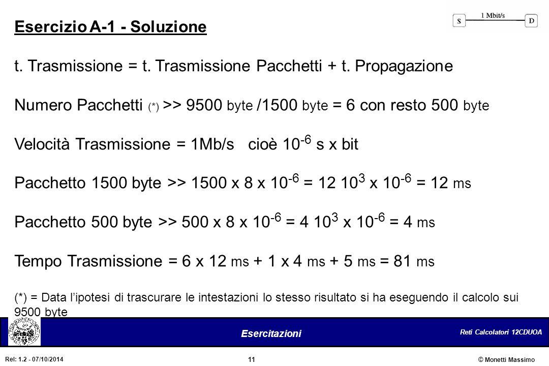Esercizio A-1 - Soluzione