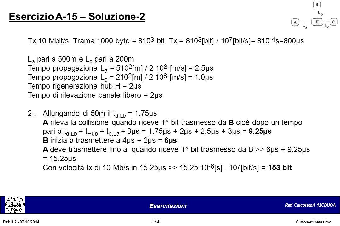 Esercizio A-15 – Soluzione-2