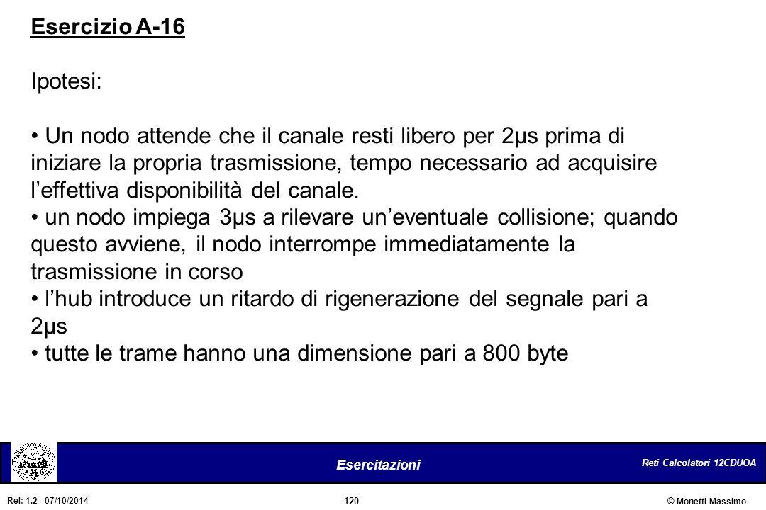 Esercizio A-16 Ipotesi: