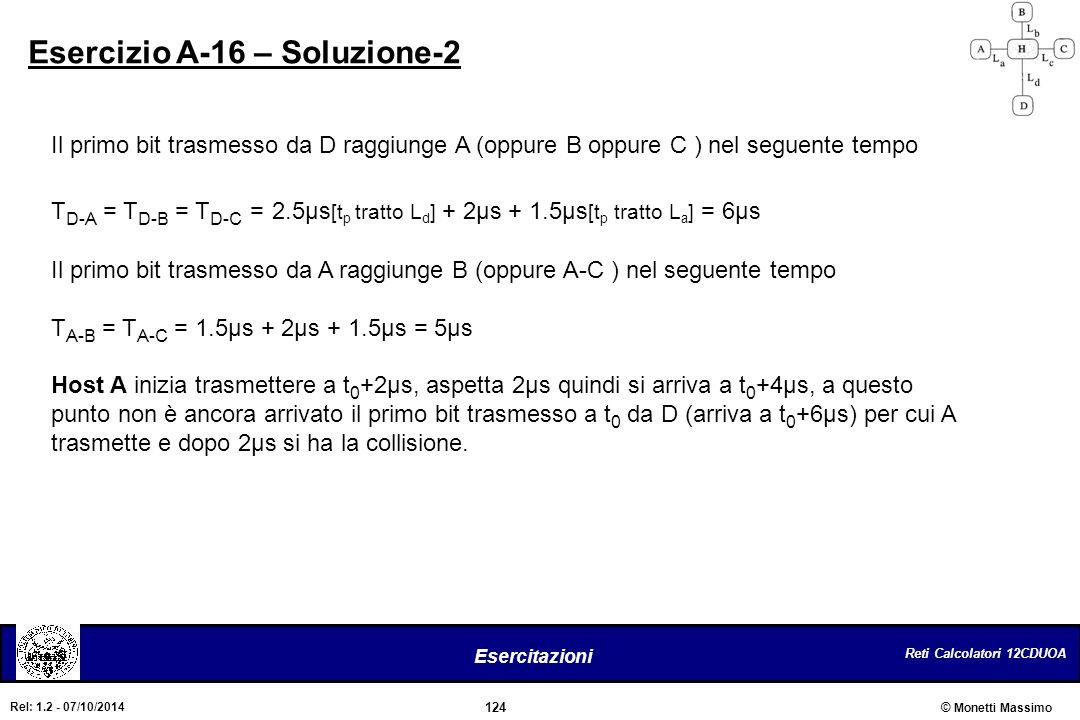 Esercizio A-16 – Soluzione-2