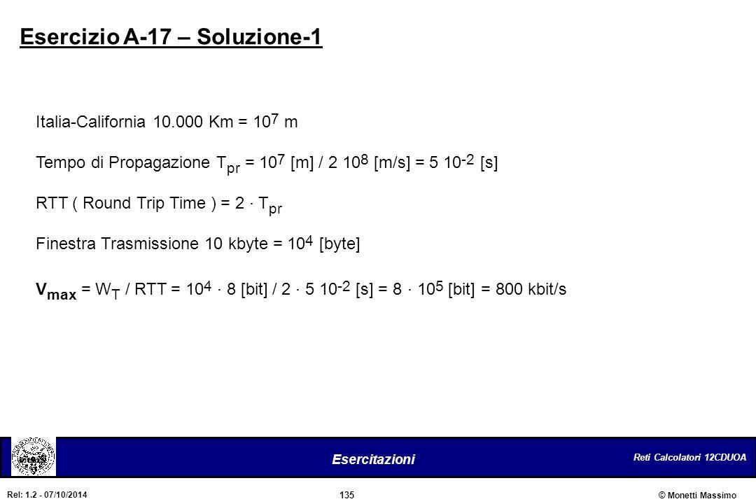 Esercizio A-17 – Soluzione-1
