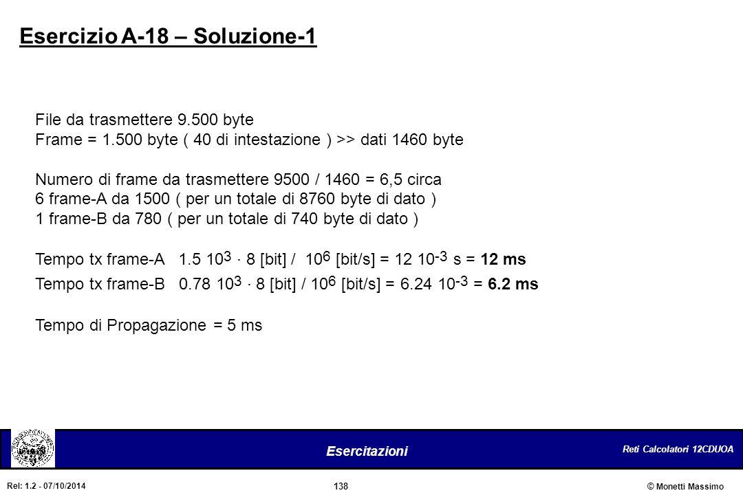 Esercizio A-18 – Soluzione-1