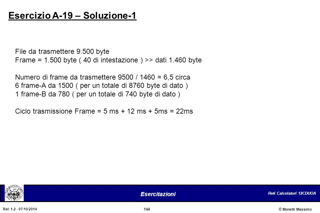 Esercizio A-19 – Soluzione-1