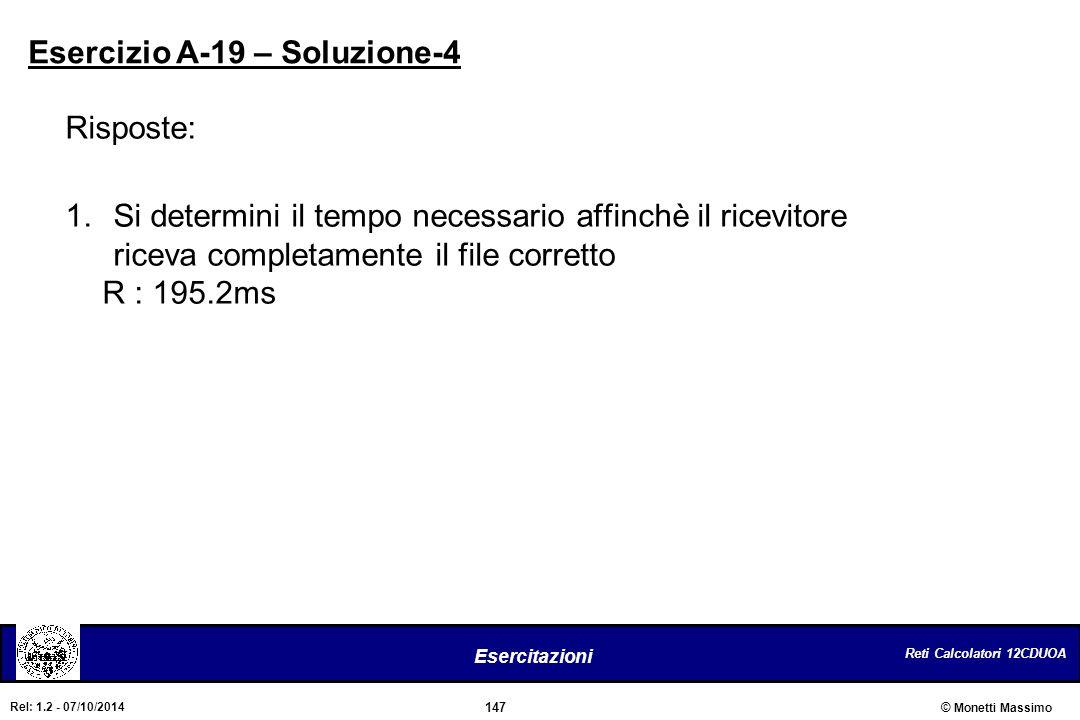 Esercizio A-19 – Soluzione-4