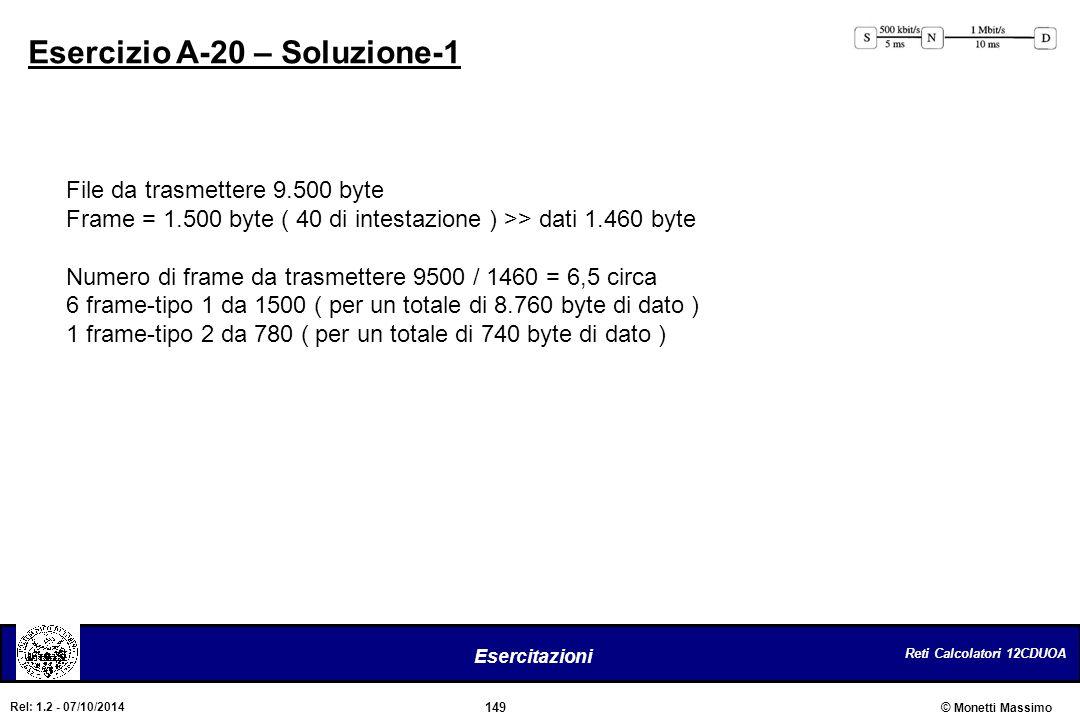 Esercizio A-20 – Soluzione-1