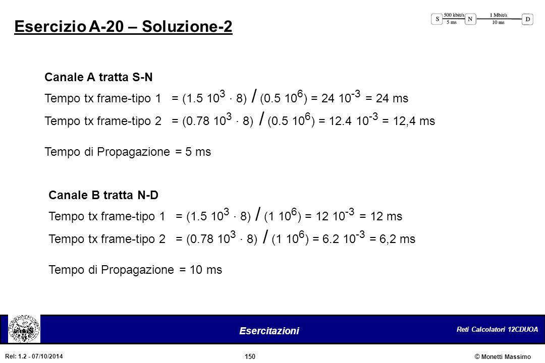 Esercizio A-20 – Soluzione-2