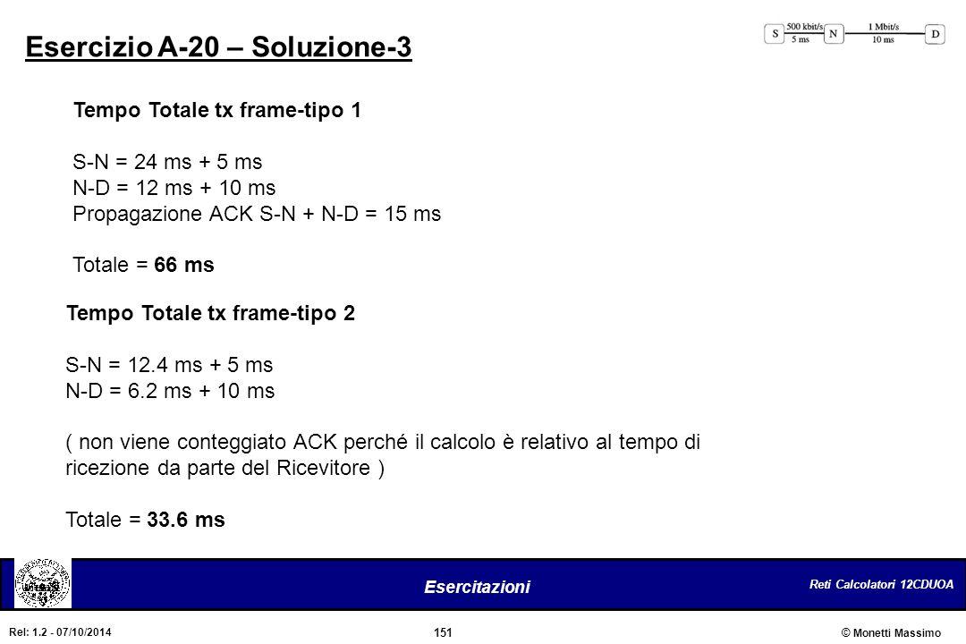 Esercizio A-20 – Soluzione-3