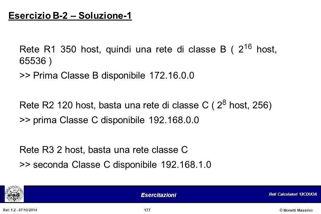 Esercizio B-2 – Soluzione-1