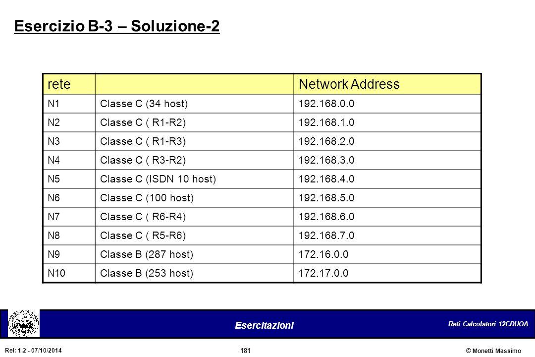 Esercizio B-3 – Soluzione-2