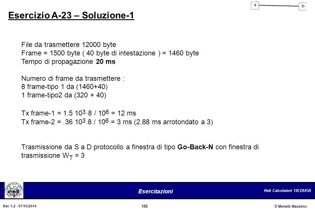 Esercizio A-23 – Soluzione-1