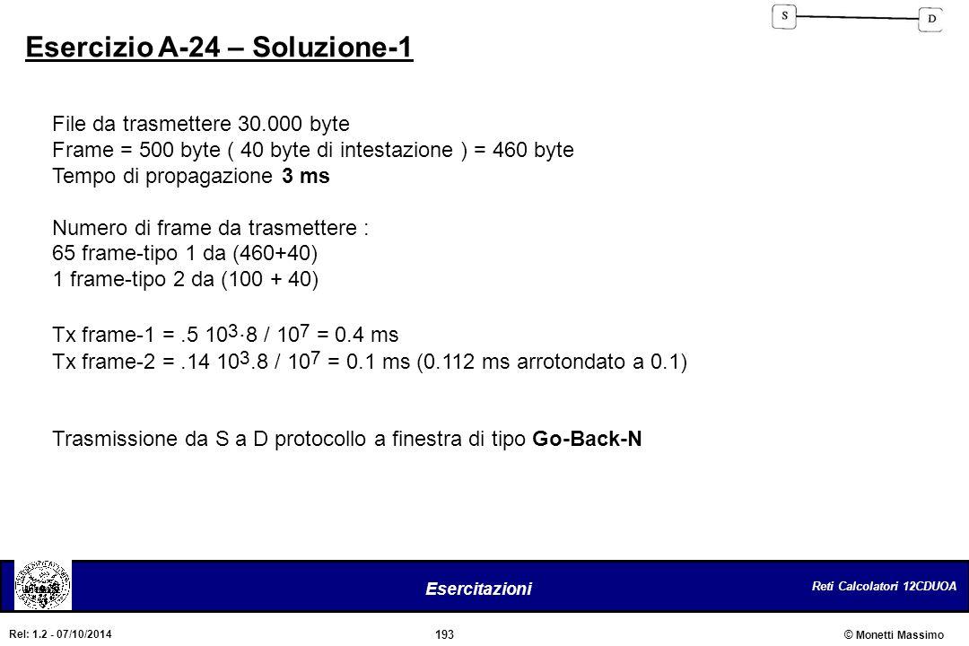 Esercizio A-24 – Soluzione-1